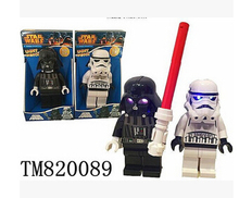 Darth Vader with lightsaber little minifigure Single sale lighting Star wars Classic figures Collection Children poni Gift toys