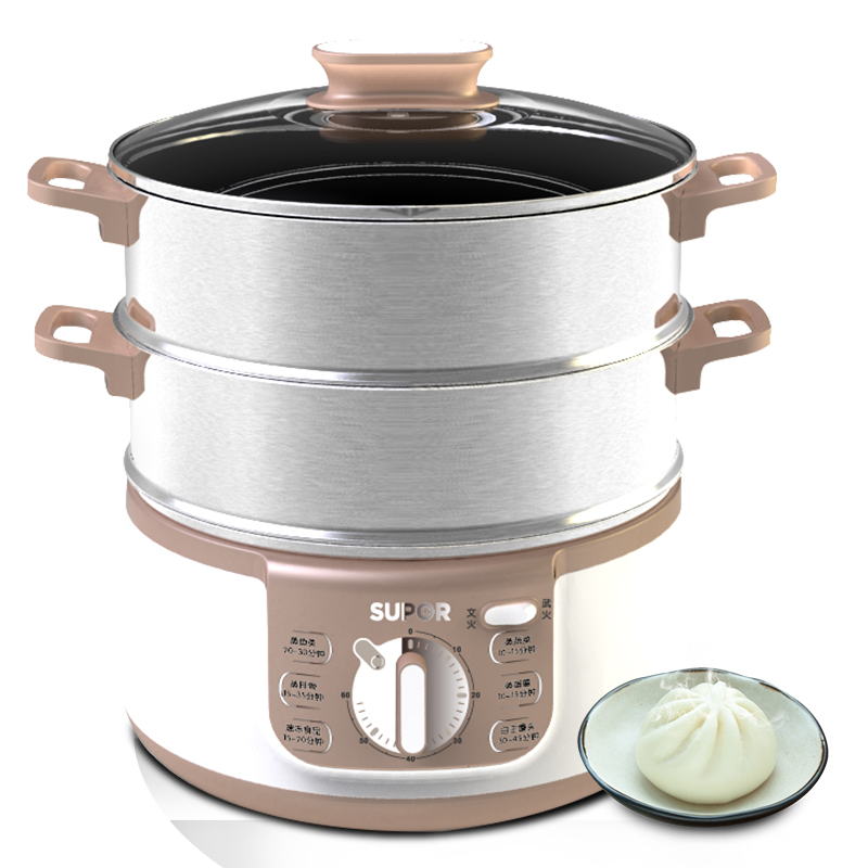 Free shipping Household multifunctional electric stainless steel large capacity Electric Food Steamers(China (Mainland))