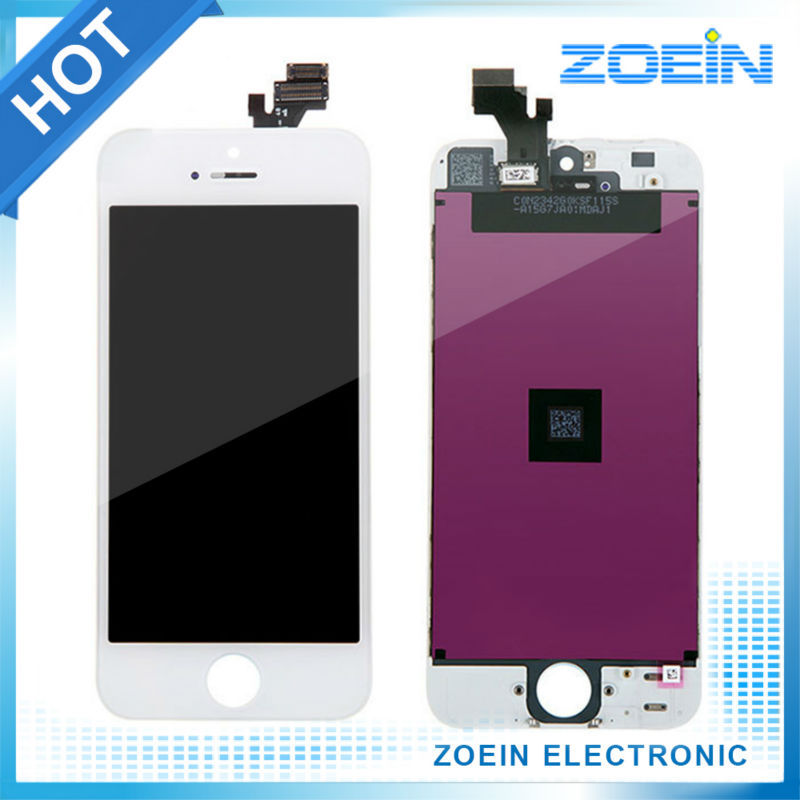 2016 Hot sale AAA High Quality Screen Replacement LCD For iPhone 5 Display With Digitizer Touch Screen Assembly In Black White