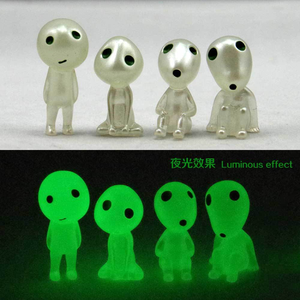 Luminous Elf tree standing posture elves figurines Hayao miyazaki cartoon princess mononoke Alien small doll micro landscape(China (Mainland))