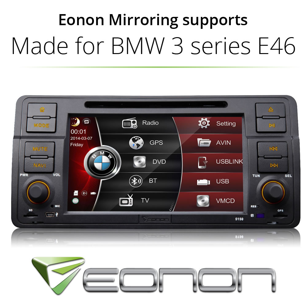 """For BMW E46 3 Series Screen Mirror 7"""" Car DVD Player GPS BT Touch/USB/SD MP3(China (Mainland))"""