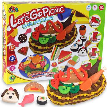 plasticine Large 3d dough plasticine pastry fruit food mould toiletry kit child diy puzzle