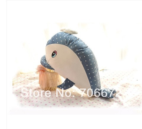 Ocean whale about 50cm blue whale spotted design plush toy doll children gift t5578(China (Mainland))