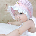 Summer Baby Caps Cotton Baby Hat Newborn Photography Props Rosette Baby Girl Hat MKE046 PT49