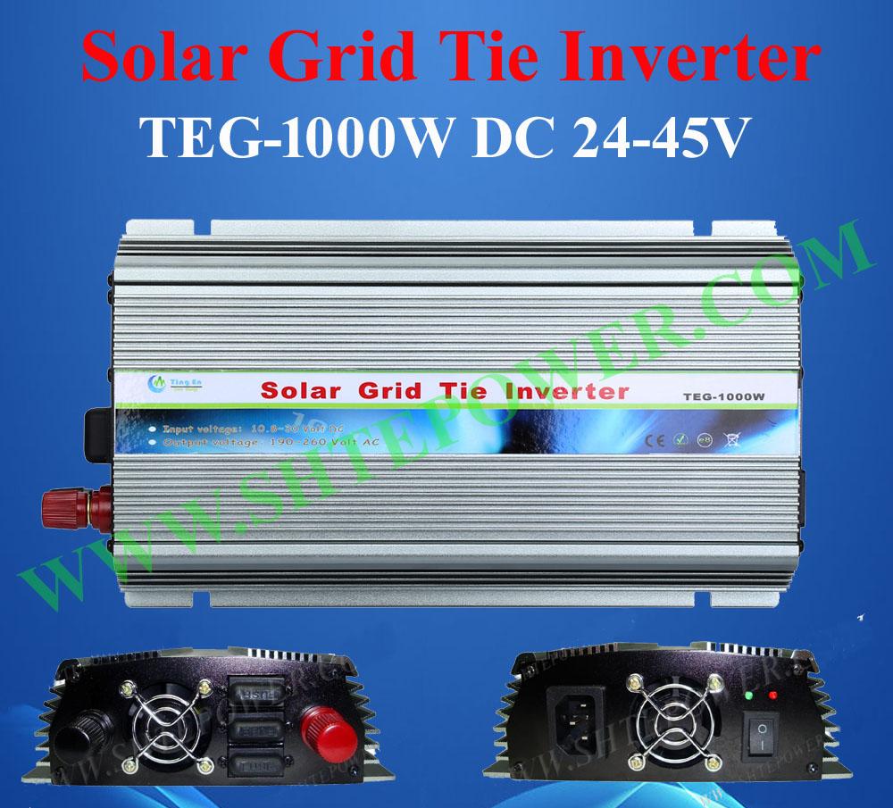 24-45v 1000w solar grid tie inverter ,dc 24-45v to190-250v ac solar converter(China (Mainland))