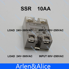 Buy 10AA SSR input 80-250V AC load 24-380V AC single phase AC solid state relay for $2.57 in AliExpress store