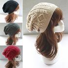 Toucas De Inverno 2015 Chapeu Feminino Twist Pattern Women Winter Hat Knitted Sweater Fashion Hats For Women New Design Caps