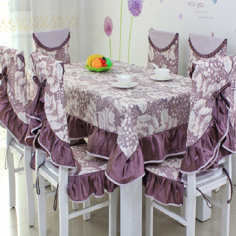 Tablecloth On The Table Party Table Cover Dining Chair Cover Manteles Para Mesa Table Cloths For Weddings Purple(China (Mainland))