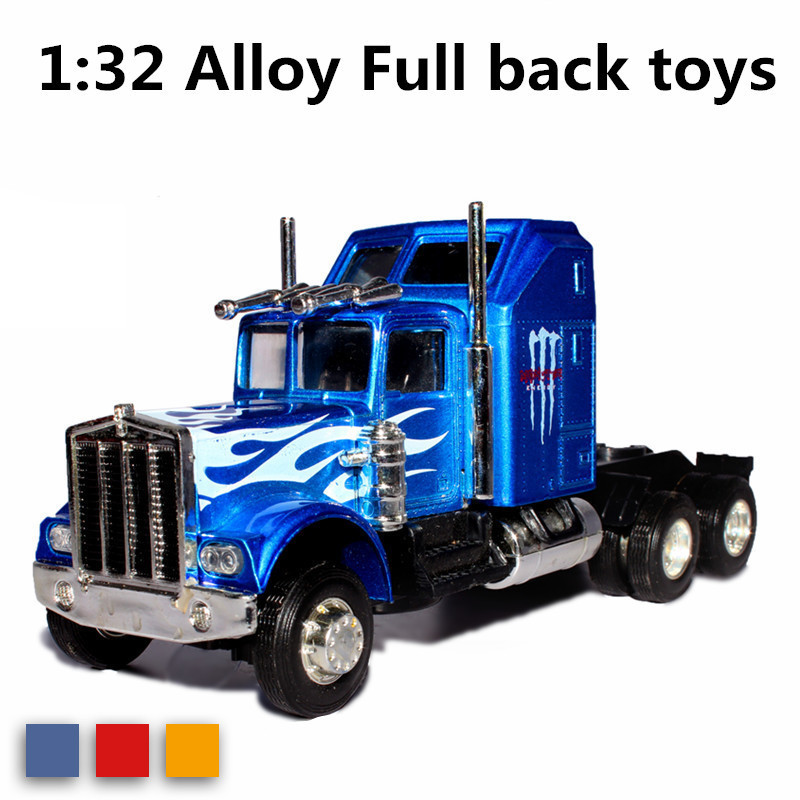 alloy truck model children gift educational toys sound light lowest price of wholenet tractor model(China (Mainland))