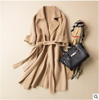 Very good quality new products listed winter 2016 new products to market, the original design loose women big yards wool coat(China (Mainland))