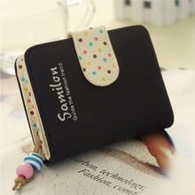 Fashion Candy Colors Purse Polka Dots Leather Zipper Wallet Multiple Cards Holder Wallet For Girls Women