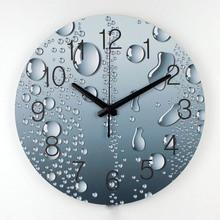 Gros horloge murale design moderne décoration 3d décoration murale clcoks de salon décoration murale silencieuse horloge murale de mode montre(China (Mainland))