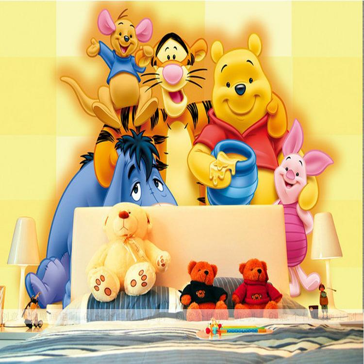 Free Shipping Cartoon living room TV backdrop wallpaper mural non-woven wallpaper children's room wallpaper mural(China (Mainland))