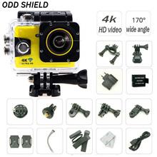 Buy Action camera Original ODD SHIELD ultra HD 4K WiFi 1080P 170D 2.0' Screen 30m waterproof Action sport Camera go extreme pro sj for $65.58 in AliExpress store
