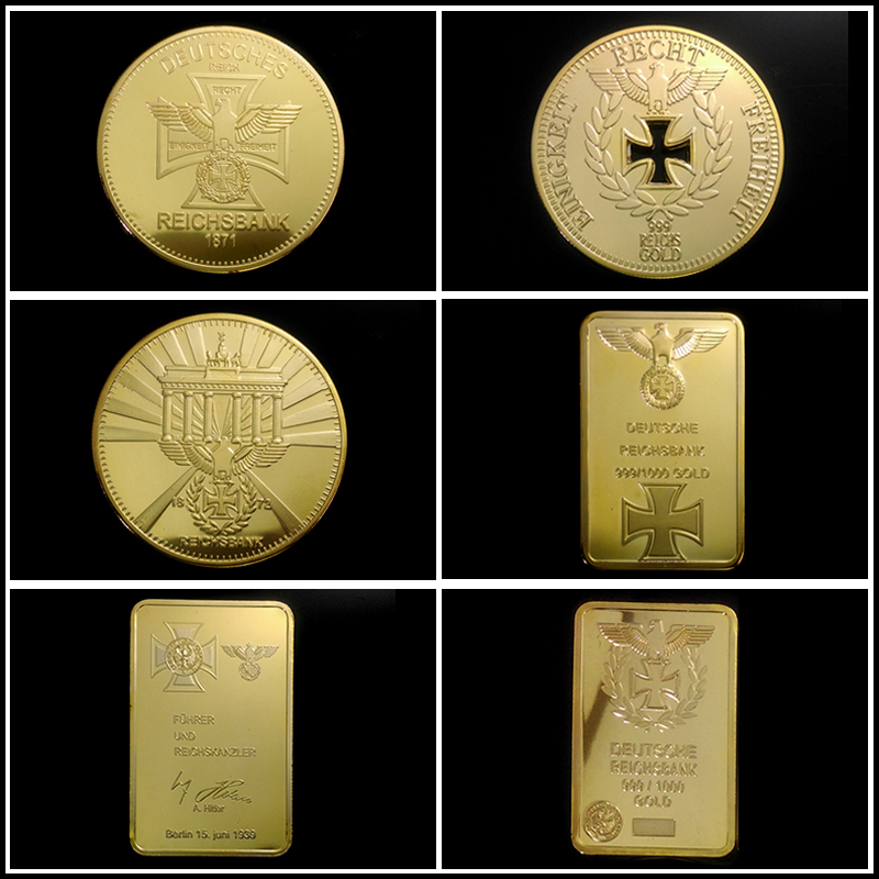 product NEW WW2 germany coin collection set ! 6 pcs GOLD plated german coin collection set