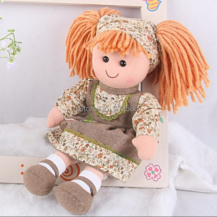 """2015 New arrival 15"""" fashion girls doll high quality fabric dress doll for baby girls cloth easy taken off machine washable(China (Mainland))"""