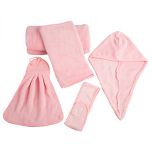 Free shipping! Coral Fleece Bathroom Bathing Suit Soft And Comfortable Five Bathroom Shower Cap Dry Hair Soft(China (Mainland))