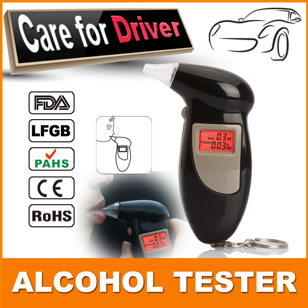 Free shipping Portable Breath Alcohol Analyzer Digital Breathalyzer Tester,Alcoholicity Tester Alcohol-Detection Units:%BAC g/L(China (Mainland))
