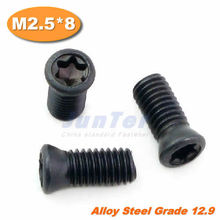 100pcs/lot M2.5*8 Grade12.9 Alloy Steel Torx Screw for Replaces Carbide Insert CNC Lathe Tool