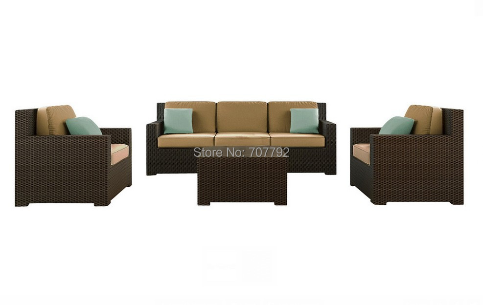 2015 Hot Sale Black Rattan cheap outdoor wicker furniture rattan sofa(China (Mainland))