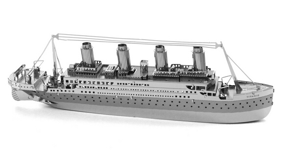 Hot Sale The Titanic Miniature 3D Puzzle Metal Model Puzzle DIY Model Building Solid Jigsaw Puzzles,Free Shipping(China (Mainland))