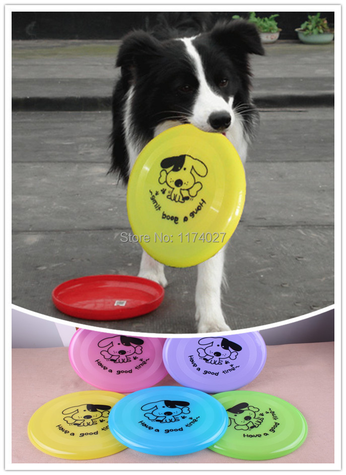 Free Shipping Plastic Puppy toy Dog Frisbee Flying DiscTooth Resistant Outdoor Large Dog Training Toy(China (Mainland))