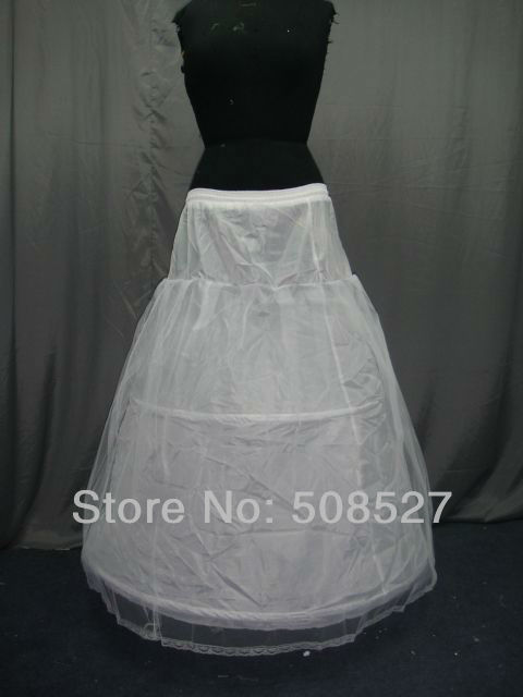 2016 New Stock White Bridal Accessories Two hoops One Layer A-Line Wedding Petticoat/Crinoline/Underskirt(China (Mainland))