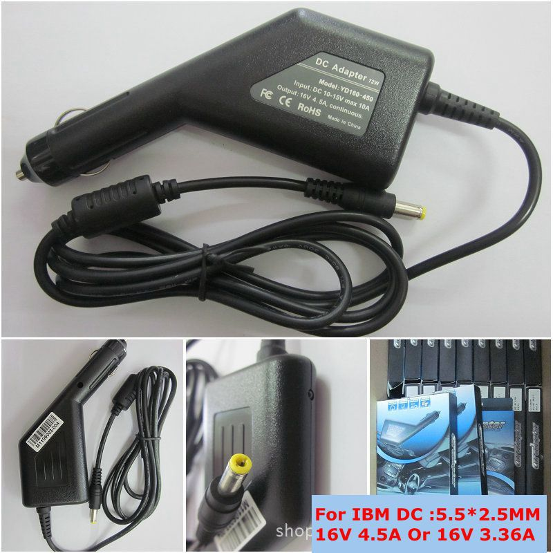 16V 4.5A 72w Universal Car Adapter Charger for IBM THINKPAD T43 A31 X31 R40 T21 T41 T42 Laptop Free Shipping(China (Mainland))