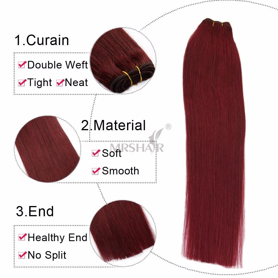 4# Cheap Hair Bundles 100 Bulk Indian Hair Straight Virgin Human Hair Bundles Thick Natural Weaves MRSHAIR Colored Human Hair