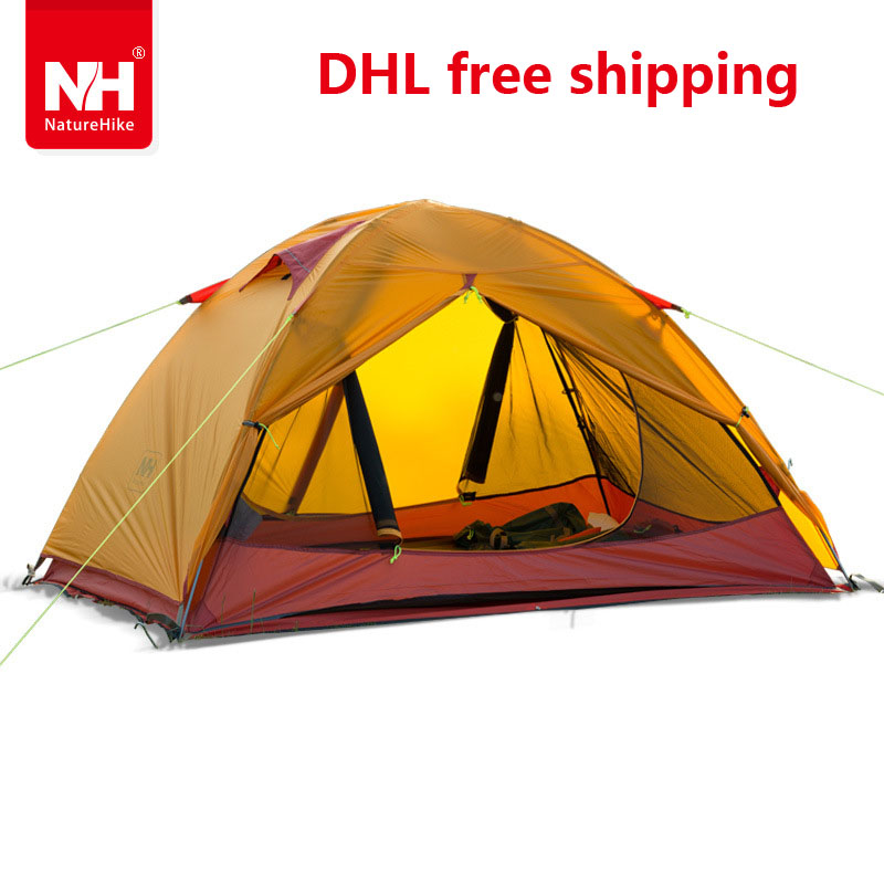 Фотография DHL Naturehike two person Windproof Waterproof Anti UV Double Layer Tent 20D Silicone Ultralight Outdoor Hiking Camping Tent