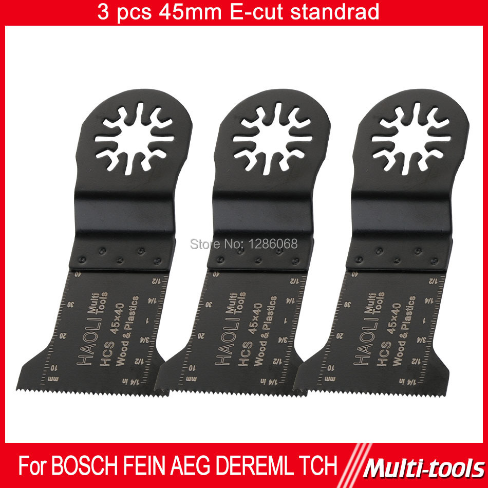 FREE SHIPPING 3pc 45mm HCS E-cut standard Oscillating MultiTool saw blade  fit for Makita,AEG,Fein and most brands of multi-tool<br><br>Aliexpress