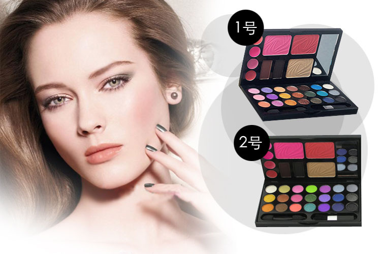 31 Color Wet Shine Eye shadow Blush Lip Gloss Eyebrow Cosmetic Makeup Palette Set Eyeshadow Palette(China (Mainland))