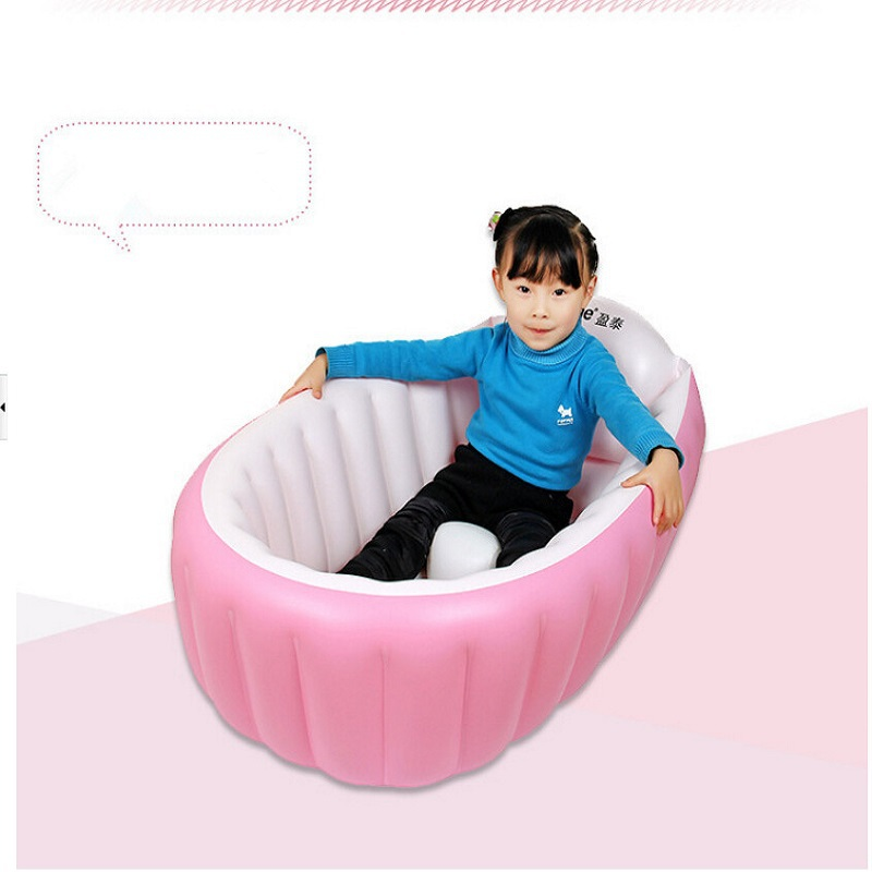 newborn baby inflatable tub folding baby bathtub sitting lying dual summer swimming pool baby. Black Bedroom Furniture Sets. Home Design Ideas
