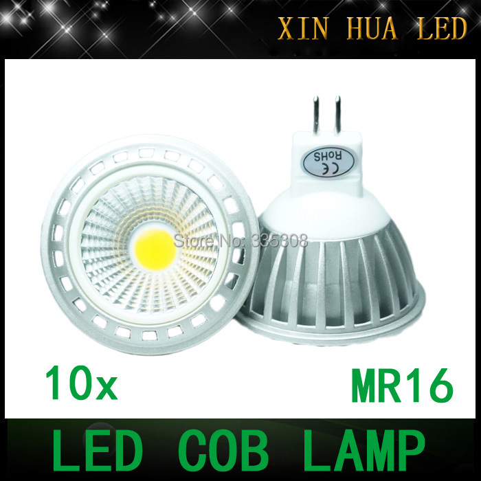 1MR16 cob led 12V 6w Dimmable lamp CREE LED COB Spotlight downlight bulb GU10 light bulbs warm/cool white - Xin Hua Electrical Store store