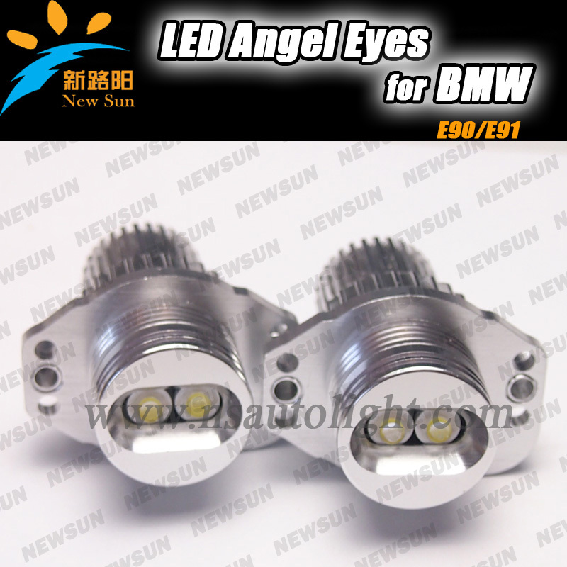 Promotion! Car led angel eyes,E90 10W cree angel eye for BMW, angel eyes bulb<br><br>Aliexpress