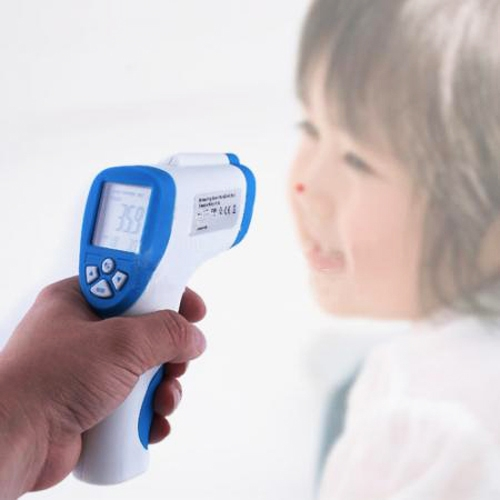 Non-Contact IR Laser Temp Gun Infrared Digital Thermometer Kids Infant Temperature Tester LCD Backlight(China (Mainland))