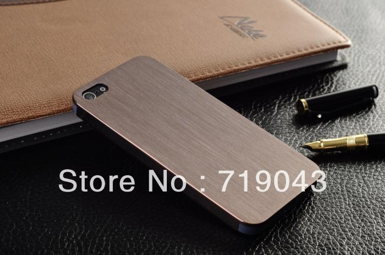 0.3mm Thin Brushed Aluminum case iphone 4 4S Hard Luxury, Metal back cover , 7 colors stock - March_e-store store
