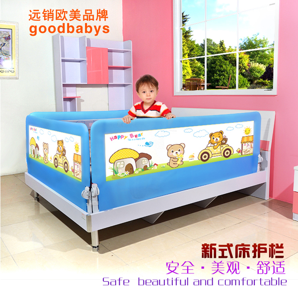 Фотография 2pcs Baby bed fence guardrail baby crib guardrail bed rails bed buffer-type general 150cm 120cm and 180cm for choose