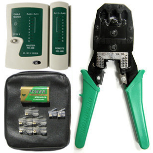 Crimping plier ethernet cable plier set ethernet cable line tongers tester battery 60 crystal head