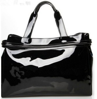 Women's ajs bag patent leather oil skin PU jelly diamond bag inventory clearance processing 6616 bag(China (Mainland))
