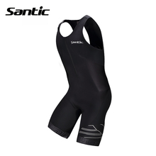 Santic Triathlon Cycling Jersey 4D Pad Quick Dry Sleeveless Cycling Skinsuit Bike Jersey Clothes For Swimming Running Riding(China (Mainland))