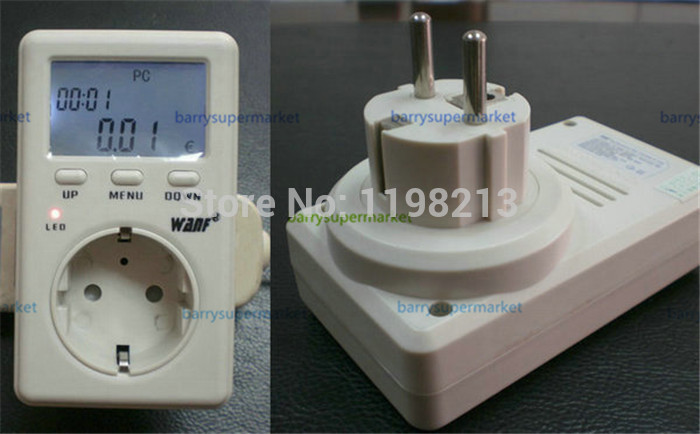 170-240V AC EU Saving Energy Wanf Mini WATT Electricity  Energy Usage Ammeter Meter Monitor AC Voltag Power Balance Energy Meter<br><br>Aliexpress