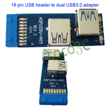 Free Shipping I Tpye USB 3.0 Hub 19pin USB 3.0 header to Dual USB3.0 A Female Port Converter Card USB3.0 Adapter