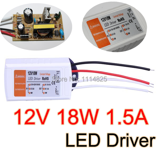 12V 1.5A 18W Power Supply AC/DC adapter transformers switch for LED Strip RGB ceiling Light bulb Driver Power Supply 100-240V AC(China (Mainland))