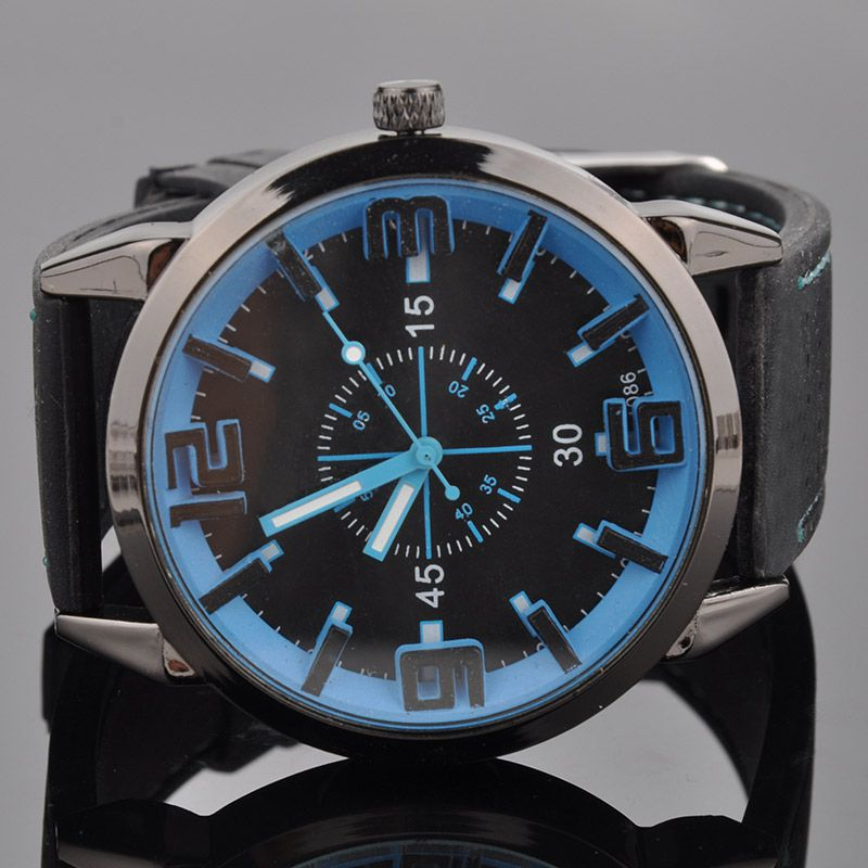 Men Watch 2015 Quartz Watch with Rubber Strap Band Wrist Watchest Men Gift Free Shipping PMPJ579