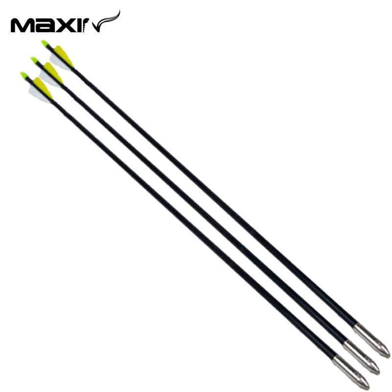 New X3 78 5cm Archery Arrow FRP 6878 Arrows 30 80lbs Fiberglass Yellow White Turkey Feathers