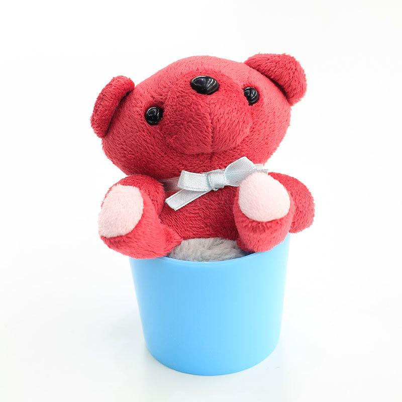 Creative Cup Bear Cleansing wipe plush toys wipe brushes clean Creative gifts Christmas gifts kitchen cleaning tool(China (Mainland))