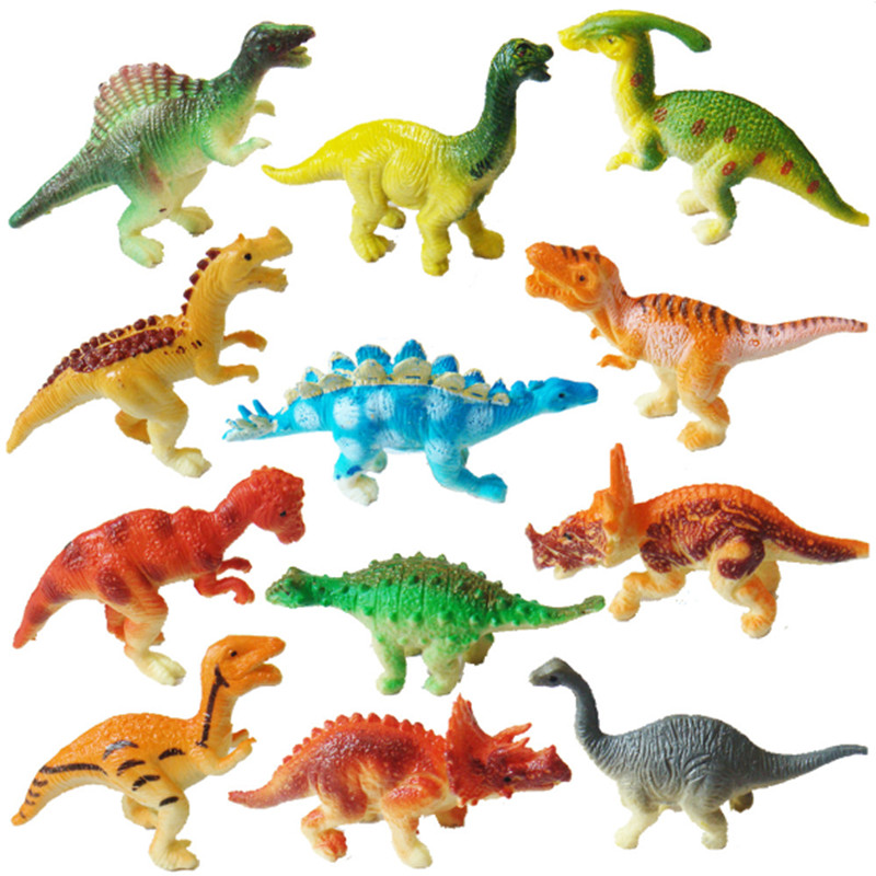 New Arrival 12pcs/set Dinosaur Action Figure Toys Children Educational Toy Kids Best Gifts J607