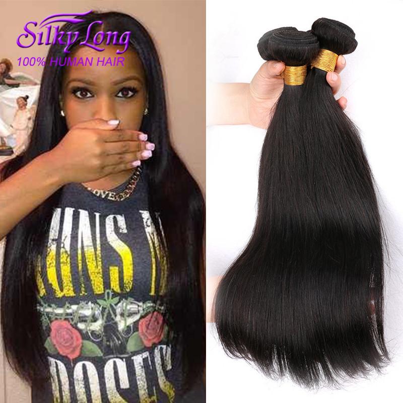 Гаджет  5A Brazilian Virgin Hair Straight 4pcs lot Brazilian Straight Virgin Human Hair Bundles Natural Black Hair Virgin Straight Hair None Волосы и аксессуары