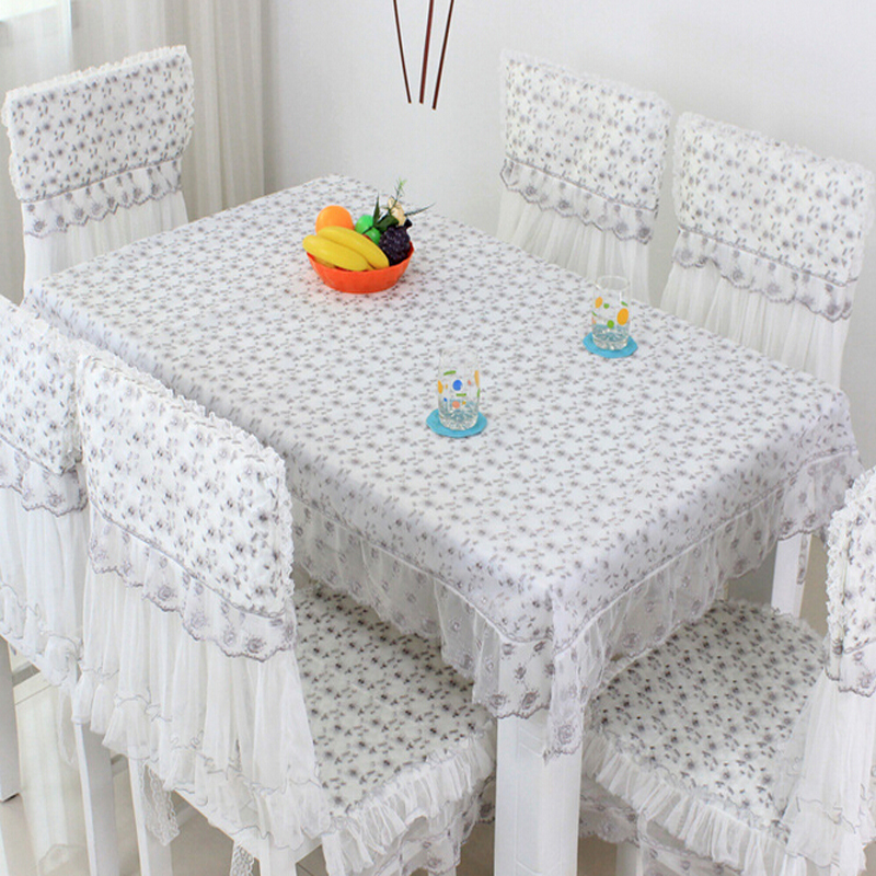 Lace Tablecloth Dining Chair Cover Nappe De Table Wedding Handmade Embroidery Party Tablecloths Light Grey Home Textile(China (Mainland))